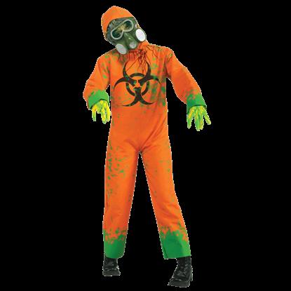 Child's Orange Biohazard Zombie Jumpsuit