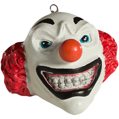 Clown Head Horror Ornament