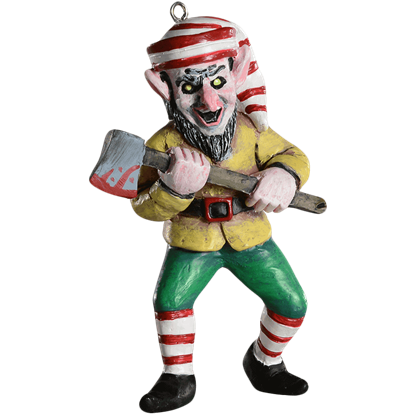 Killer Elf Horror Ornament