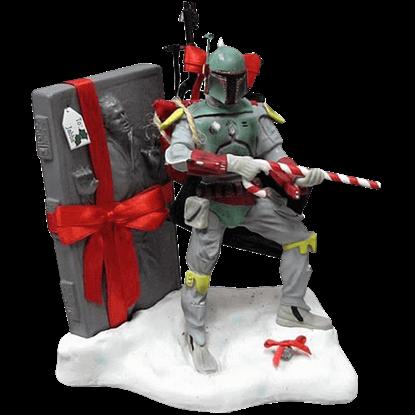 Star Wars Fabric Mache Christmas Boba Fett Statue
