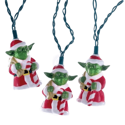 Star Wars Santa Yoda Light Set