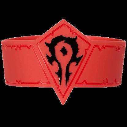Warcraft Movie Horde Rubber Bracelet