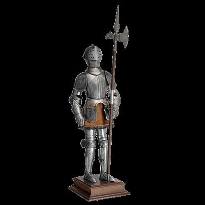 Miniature 16th Century Spanish Armor with Halberd by Marto