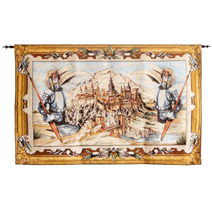 Small Medieval Tapestry of Toledo Spain by Marto