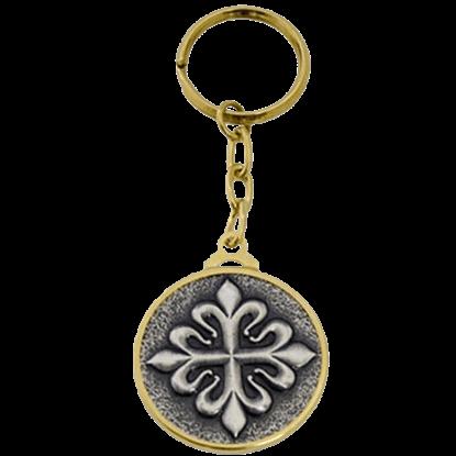 Templar Knight Calatrava Cross Keychain by Marto
