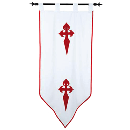 Templar Knight Order of Santiago Banner by Marto