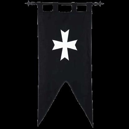 Templar Knight Order of Hospitallers Banner by Marto
