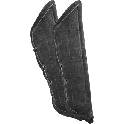 Leopold Suede Padded Bracers