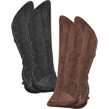 Leopold Suede Padded Greaves