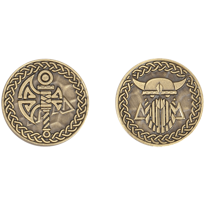 Set of 10 Gold Viking LARP Coins