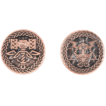 Set of 10 Copper Viking LARP Coins