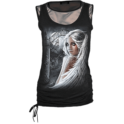 City of Angels 2-in-1 Womens Mesh Sleeveless Shirt