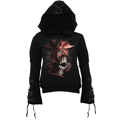 Serpent Infection Womens Gothic Hoodie