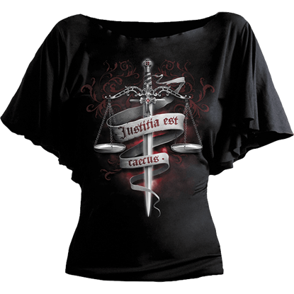 Blind Justice Gothic Drape Womens Shirt