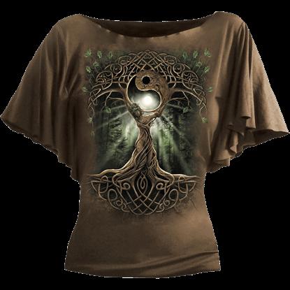 Oak Queen Drape Womens Shirt