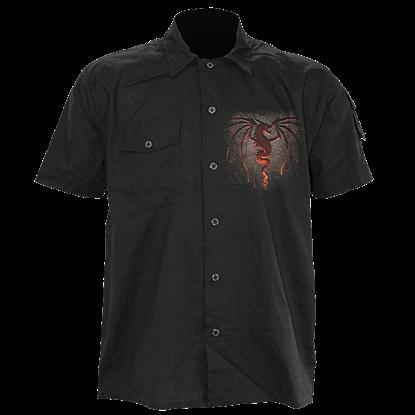 Dragon Furnace  Short Sleeve Work Shirt