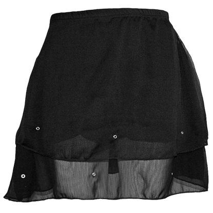 Studded Black Gothic Short Skirt