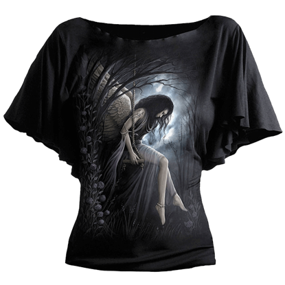 Angel Lament Gothic Drape Womens Shirt
