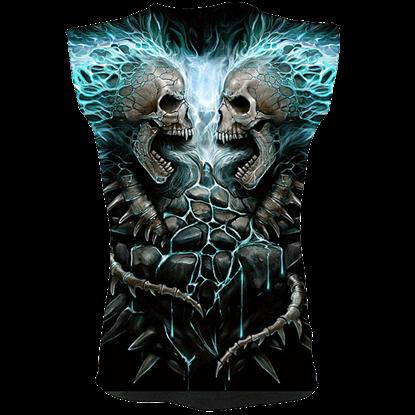 Flaming Spine Sleeveless T-Shirt