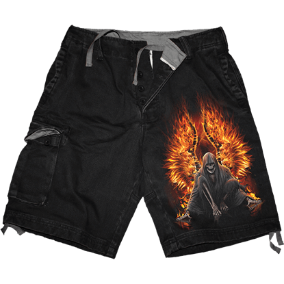 Flaming Death Cargo Shorts