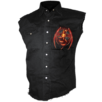 Dragons Wrath Sleeveless Stonewashed Shirt