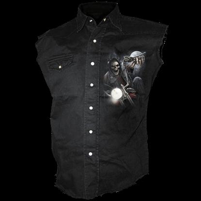 Night Church Sleeveless Stone Wash Shirt
