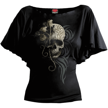 Dark Angel Boat Neck Top