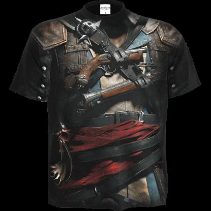 Assassins Creed IV Black Flag Allover Edward Uniform T-Shirt