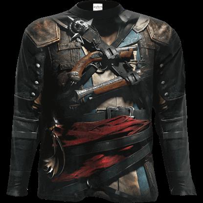 Assassins Creed IV Black Flag Edward Uniform Long Sleeve T-Shirt