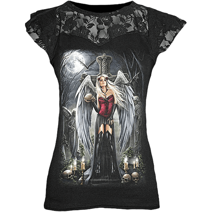 Angel of Death Layered Lace Womens Shirt