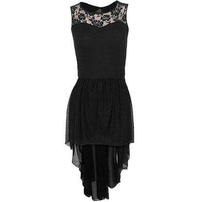 Black Gothique Lace Dress