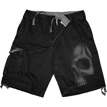 Shadow Skull Cargo Shorts