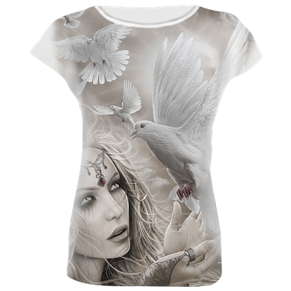 Angel Doves Womens Fitted T-Shirt