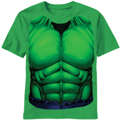 Adult Green Hulk Chest T-Shirt