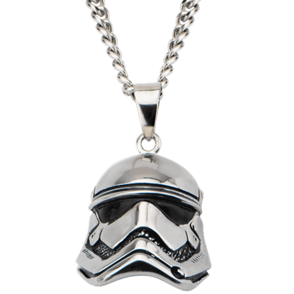 First Order Stormtrooper 3D Helmet Necklace