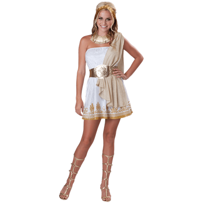 Glitzy Greek Goddess Teen Costume