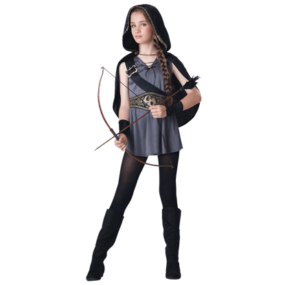 Hooded Huntress Tween Costume