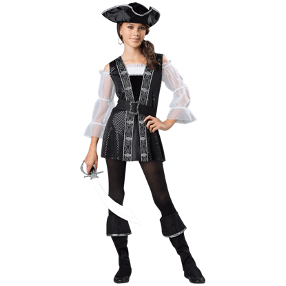 Dark Pirate Tween Costume