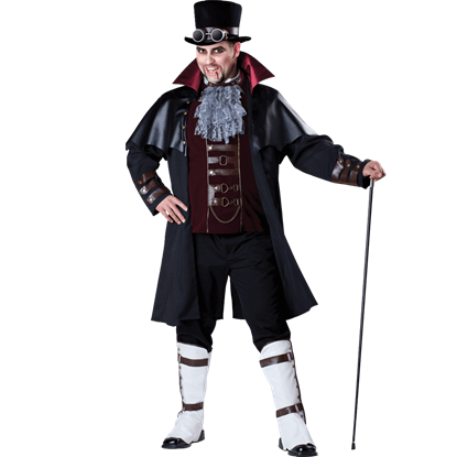 Mens Steampunk Vampire Plus Size Costume