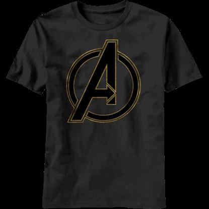 Avengers Black Logo T-Shirt