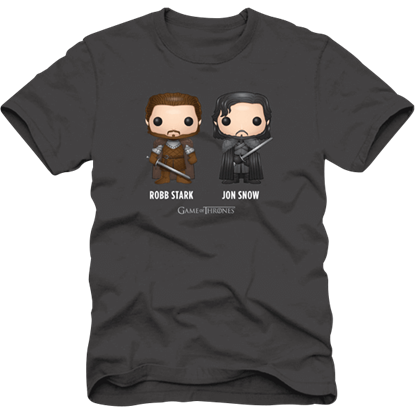 GoT Robb Stark and Jon Snow T-Shirt