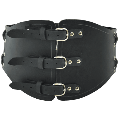 Laced Leather Corset Belt