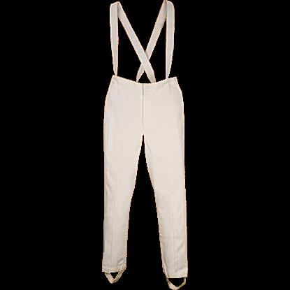 Britannia White Suspender Pants