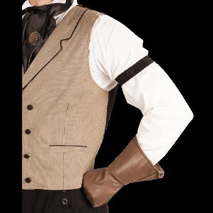 Mens Black Shirt Sleeve Garters