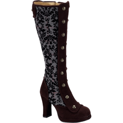 Elegant Tall Steampunk Boots