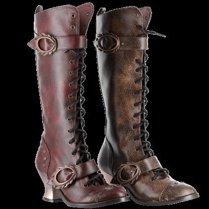 Alexandra Steampunk Boots