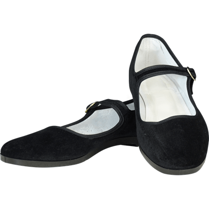 Black Velvet Lady Jane Shoes