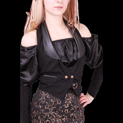 Steampunk Black Halter Waistcoat