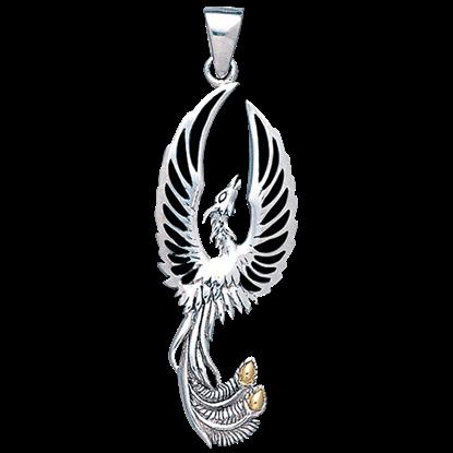 Silver Phoenix Rising Pendant