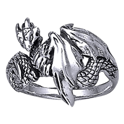Dragon Wrap Silver Ring